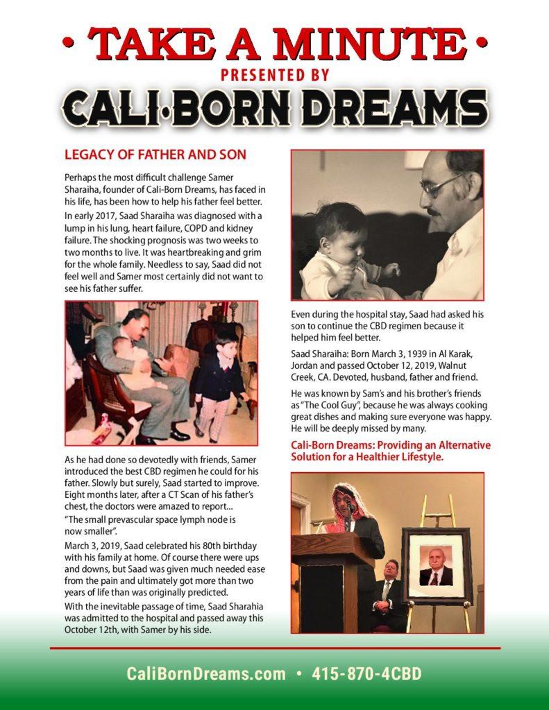 Take A Minute - Father and Son | Cali-Born Dreams